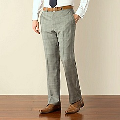 Racing Green - Grey check regular fit trouser
