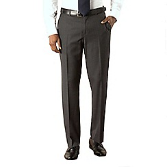 Karl Jackson - Grey stripe tailored washable suit trouser