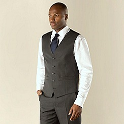 Karl Jackson - Grey stripe 5 button washable tailored waistcoat
