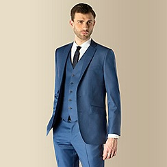 Ben Sherman - Blue semi plain 2 button kings slim fit suit jacket