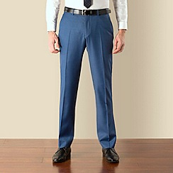BEN SHERMAN - Blue semi plain kings slim suit trouser