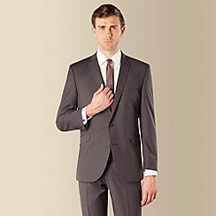 Ben Sherman - Grey narrow stripe 2 button kings slim fit suit jacket