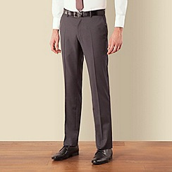 BEN SHERMAN - Grey narrow stripe kings fit suit trouser