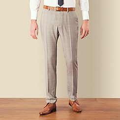 Ben Sherman - Grey blue overcheck skinny camden fit suit trouser