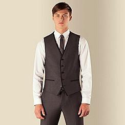 Red Herring - Charcoal semi plain 5 button waistcoat