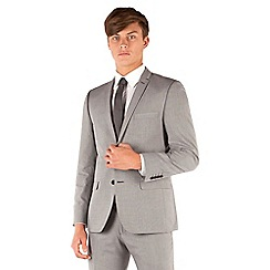 Red Herring - Light grey semi plain tailored 2 button suit jacket