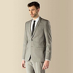 Red Herring - Grey check 2 button slim fit suit jacket
