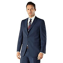 Jeff Banks - Blue mohair look 3 button front regular fit suit jacket
