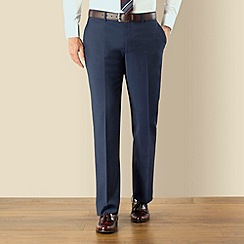 Jeff Banks - Blue mohair look plain front regular fit suit trouser