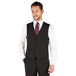 Thomas Nash - Black plain 5 button waistcoat