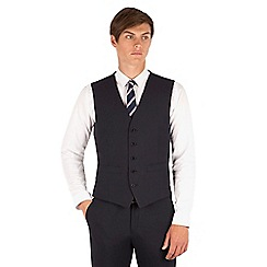 Thomas Nash - Navy plain 5 button waistcoat