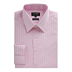 Stvdio by Jeff Banks - Pink stripe floral jacquard shirt