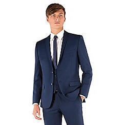 Red Herring - Blue plain 2 button slim fit suit jacket