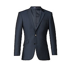 Karl Jackson - Plain blue 2 button washable tailored fit suit jacket