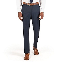 Karl Jackson - Plain blue washable tailored fit suit trouser
