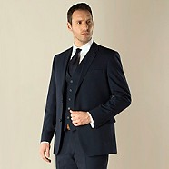 Jeff Banks - Navy travel 2 button regular fit suit jacket