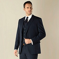 Jeff Banks - Navy travel 2 button regular fit suit