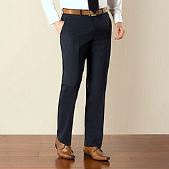 Jeff Banks - Navy travel plain front regular fit suit trouser