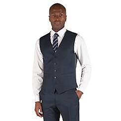 Karl Jackson - Plain blue 5 button washable waistcoat