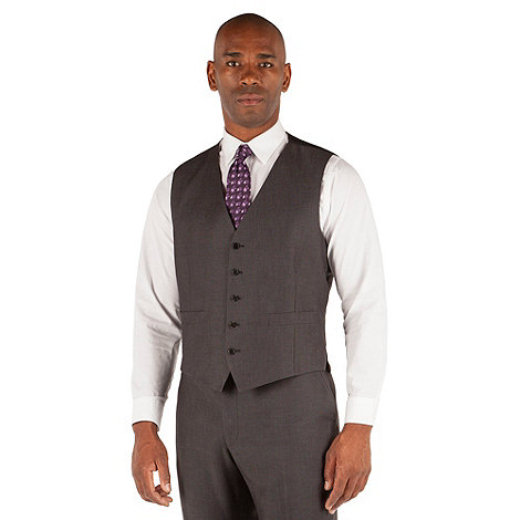 Centaur Big & Tall - Grey semi plain 5 button big and tall waistcoat