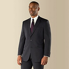 Centaur Big & Tall - Blue semi plain big and tall 2 button suit jacket