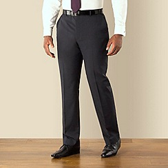 Centaur Big & Tall - Blue semi plain big and tall suit trousers