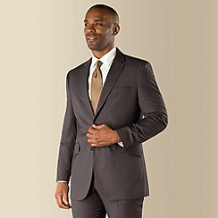 Centaur Big & Tall - Grey narrow stripe big and tall 2 button suit jacket