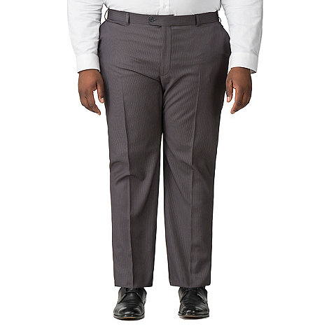 Centaur Big & Tall - Grey narrow stripe big and tall suit trouser