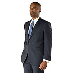 Centaur Big & Tall - Blue stripe 2 button machine washable big and tall suit jacket
