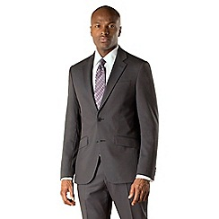 Stvdio by Jeff Banks - Charcoal tonic 2 button front soft tailoring suit jacket