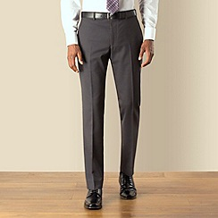 Stvdio by Jeff Banks - Charcoal tonic plain front soft tailoring suit trouser