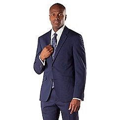 Stvdio by Jeff Banks - Blue tonic 2 button soft tailoring suit jacket