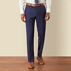 Stvdio by Jeff Banks - Blue tonic plain front soft tailoring suit trouser