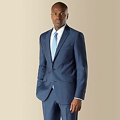 Stvdio by Jeff Banks - Blue semi plain 2 button front tailored fit suit jacket