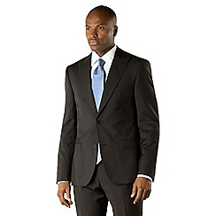 Stvdio by Jeff Banks - Black narrow stripe 2 button front modern fit suit jacket