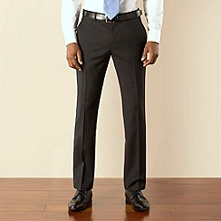 Stvdio by Jeff Banks - Black narrow stripe plain front modern fit suit trouser