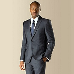 Stvdio by Jeff Banks - Blue check 2 button front modern fit suit jacket