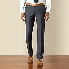 Stvdio by Jeff Banks - Blue check plain front modern fit suit trouser