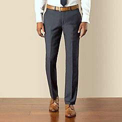 Stvdio by Jeff Banks - Blue check plain front modern fit suit trouser