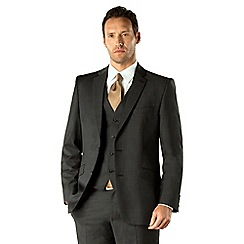 J by Jasper Conran - Charcoal pindot business 2 button tailored fit 3 piece suit