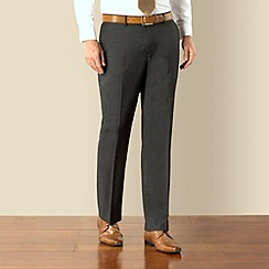 J by Jasper Conran - Charcoal pindot business plain front tailored fit suit trouser