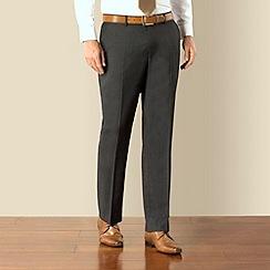J by Jasper Conran - Charcoal pindot business plain front tailored fit suit trouser