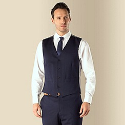 J by Jasper Conran - Navy tonic occasions 4 button tailored fit suit waistcoat