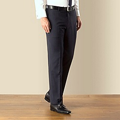 J by Jasper Conran - Navy stripe business plain front tailored fit suit trouser