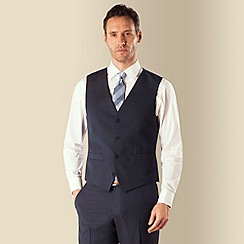 J by Jasper Conran - Navy semi plain luxury 4 button front tailored fit suit waistcoat