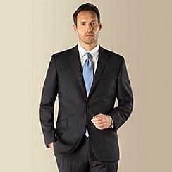 J by Jasper Conran - Navy chalk stripe luxury 2 button tailored fit suit jacket