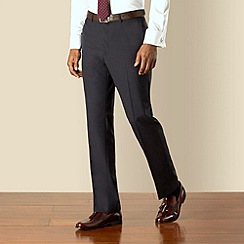 Hammond & Co. by Patrick Grant - Navy panama plain front tailored fit suit trouser