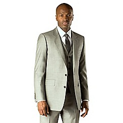 Hammond & Co. by Patrick Grant - Silver pick and pick 2 button tailored fit 2 piece suit