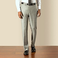 Hammond & Co. by Patrick Grant - Silver pick and pick plain front tailored fit suit trouser