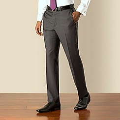 Hammond & Co. by Patrick Grant - Grey stripe plain front tailored fit suit trouser